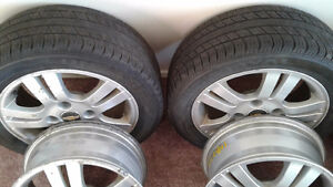 Chevrolet 4 rims with 2 tires