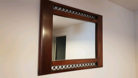 JALI SOLID SHEESHAM INDIAN ROSEWOOD MIRROR