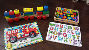 Collection of 4 Melissa & Doug Toys/Puzzles