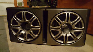 Polk Audio DB1222 Subwoofers with sound case.