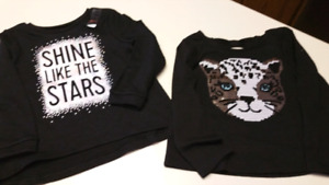 2T..Girls shirts...BOTH BRAND NEW WITH TAGS