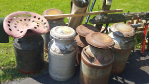 Milk Cans starting at $20.00 each