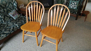 (One Left) Oak Dining Room Chair