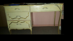 French Provincial DESK/VANITY and Nightstand