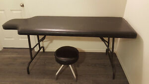 Massage table and stool