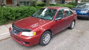 2001 Toyota Corolla CE Sedan low mileage, clean, well maintained