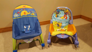 Fisher-Price Rock & vibrate chairs $22 each $40 for both