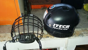 Itech Hockey Helmet with cage for sale