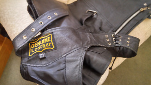 Motorcycle Leather chaps