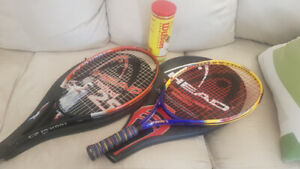Tennis racquets and tennis balls