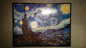 Framed Starry Night print 4' x 3' - varnished.