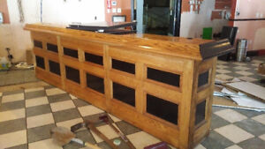 OAK BAR FOR SALE....SEVERAL DIFFERENT SIZE PIECES AVAILABLE