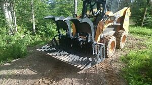 "72"" skid steer grapple bucket"