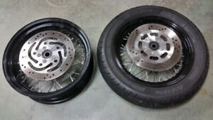 Harley Softail Spoke Wheels.
