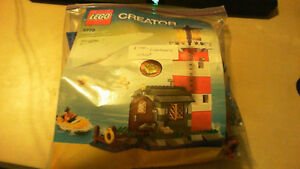Lego Creator/Lego City Lighthouse, With Boat and Working Light!