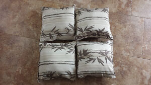 Four Pillows for Patio Furniture