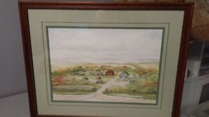Water Color Framed and Matted