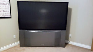 "65"" rear projection tv works great! $200"