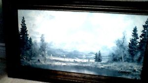 Larger Wood Framed Painting
