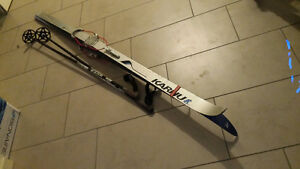 200cm waxable  Karhu x- country skis with poles.