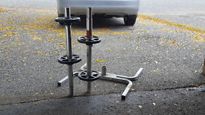 Vehicle tire stand