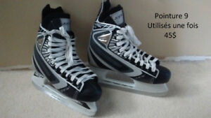 6 PAIRS DE PATINS DE HOCKEY