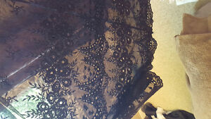 Black high waste lace skirt