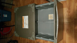 Pedestral base for washer and dryer