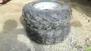 Yamaha raptor front rims and tires