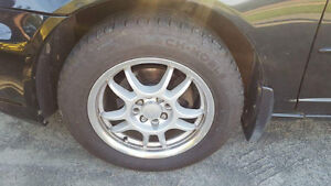 """15"""" V-Racing Rims 4X100 with tires"""