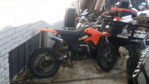 Motocross ,dirt bike ,gio 250 modifier 125cc