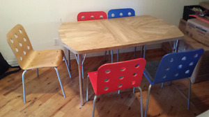 5 chairs ikea and kitchen table