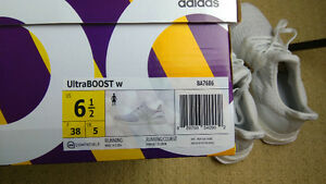 DS Adidas ultra boost triple white 3.0 women size 6.5