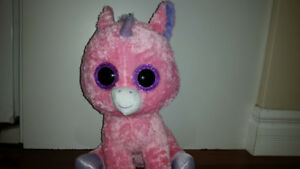 Large Pink and Purple Unicorn Beanie Boo 71c79dfc8312