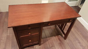 Office desk, mahogany solid wood, 4 drawers