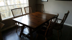 Solid Oak Table + Chairs