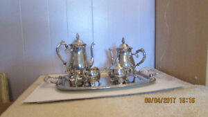 Silver Plated Tea and Coffee set