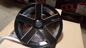 NEW!! 18 METALLIC BLACK and milled WHEELS and TIRES!! ---- CUSTOM COLOR!!  - LG25