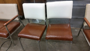 2 retro vinyl chairs.