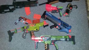 LOT of NERF and MISC TOY GUNS
