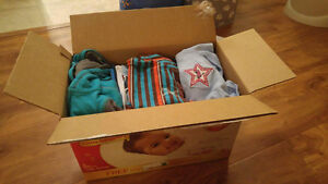 Box of baby boy clothes 6-12 months