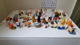 38 puppy in my pocket & kitty in my pocket figures dog cat toys vgc