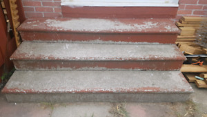 Free concrete steps