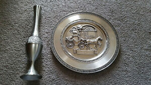 two amazing pewter items only $9 for both!!best deal on Kijiji..