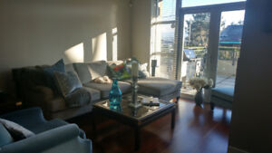 Fully furnished bdrm for rent in two bdrm West Point Gray condo