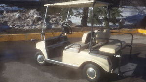 GOLF CART WITH BACK SEAT & LIGHTS