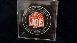 "DETROIT RED WINGS - ""Farewell to the Joe"" Official Game Puck -"