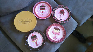Ambiance Collections Dessert Plates - Chocolate Story - Set of 8