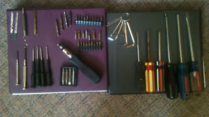 screwdrivers,bits, allen keys & other misc tools