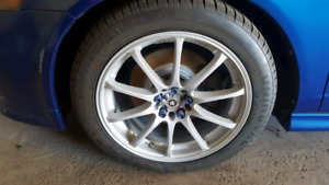 "17x7.5  Konig feather rims and 15"" momo corse rims"